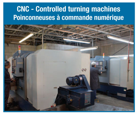 CNC - Controlled turning machines